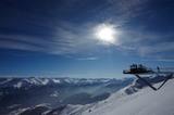 Aussichtsplattform im Winter