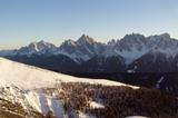 Blick von der Bonnerhütte im Winter
